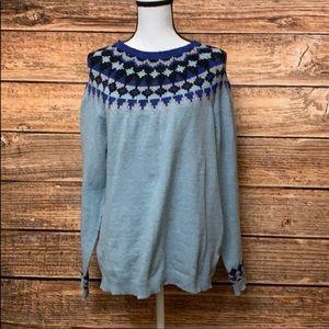 Laura Scott• Fair Isle Blue Sweater